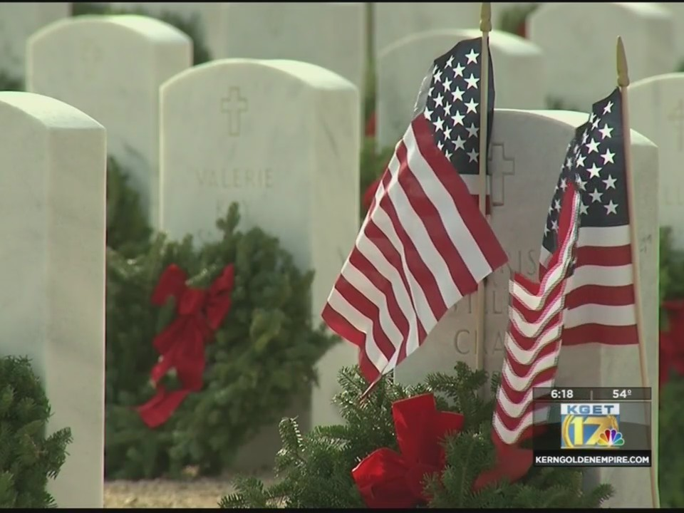 Wreaths laid for veterans at Bakersfield National Cemetery