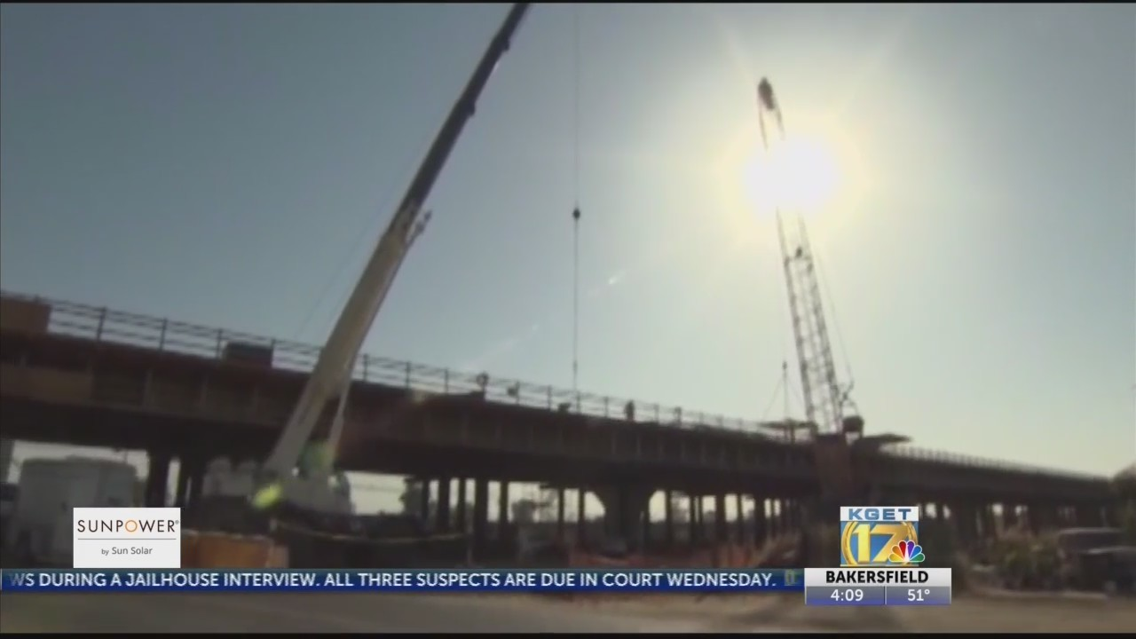 High speed rail construction in Wasco Tuesday