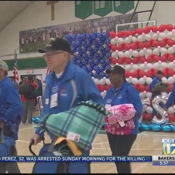 Vietnam veterans welcomed home from Honor Flight