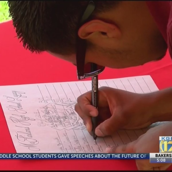McFarland High School students declare their college choices