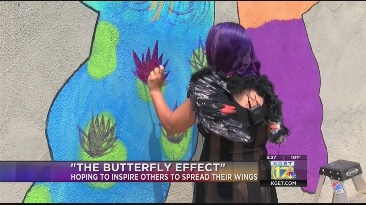 "Artist of ""The Butterfly Effect"" mural hoping to inspire others to spread their wings"