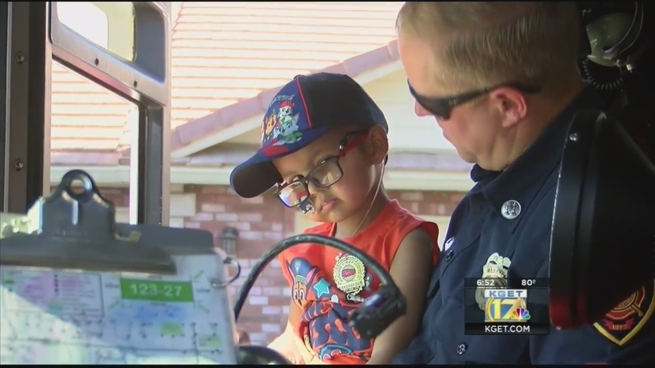 Bakersfield Fire Department's birthday surprise for young boy battling brain tumor