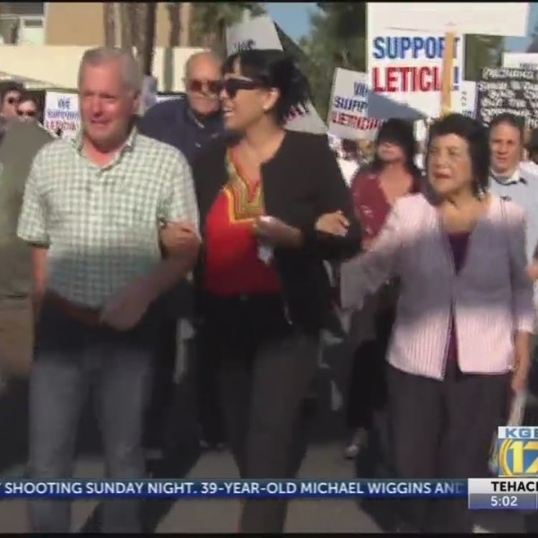 Supporters rally for Supervisor Perez