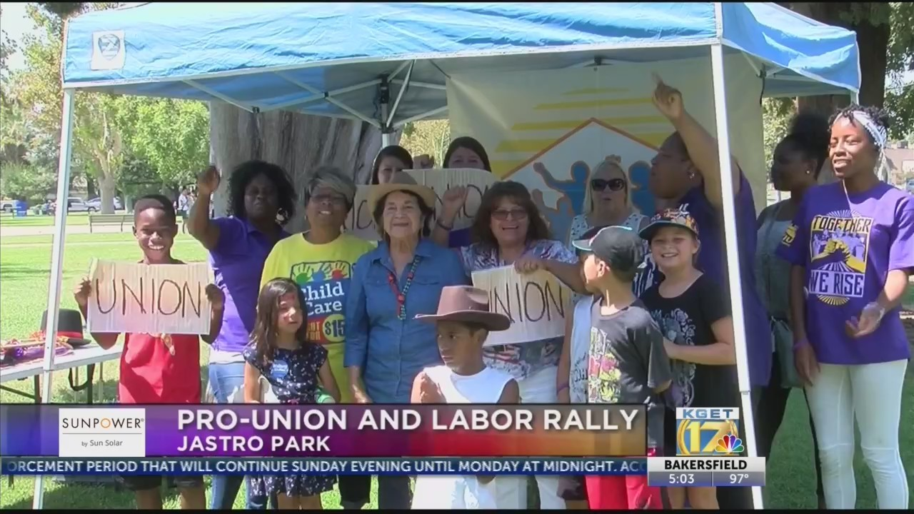 Community leaders, activists join together for pro-union rally and barbeque