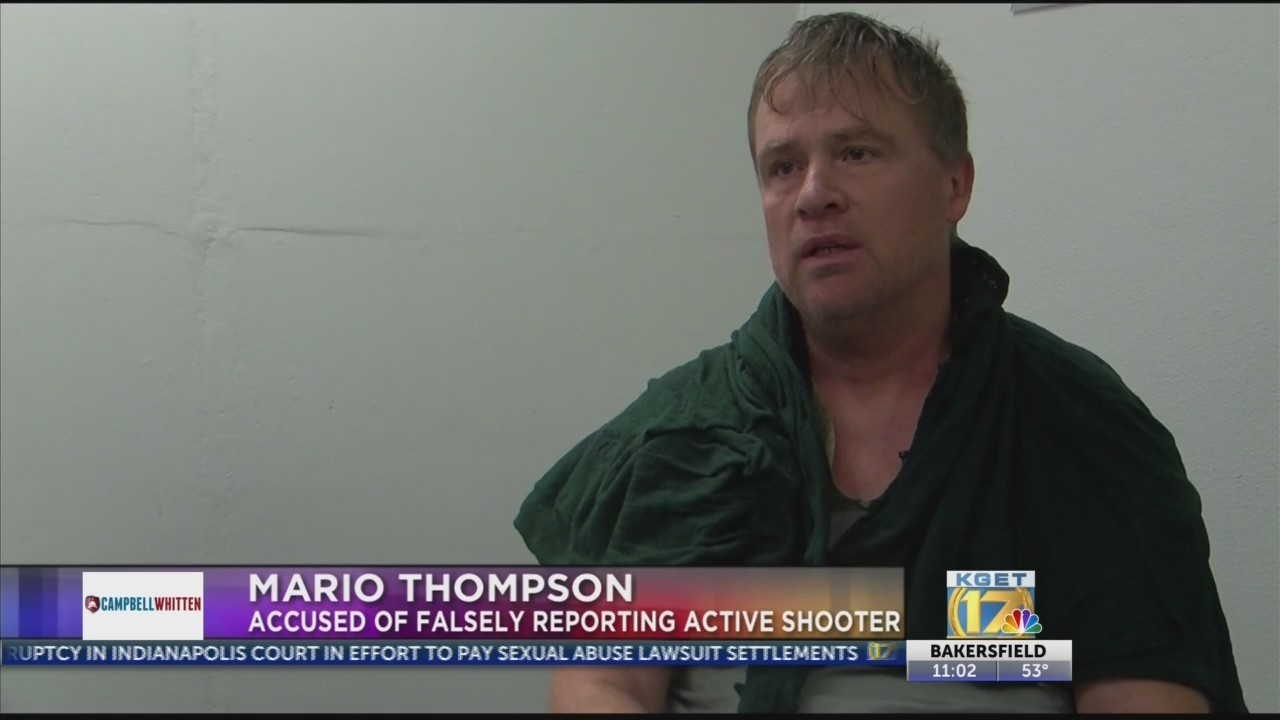 Mario Thompson, suspect accused of reporting false active shooter at Memorial, Southwest Hospitals, denies his involvement