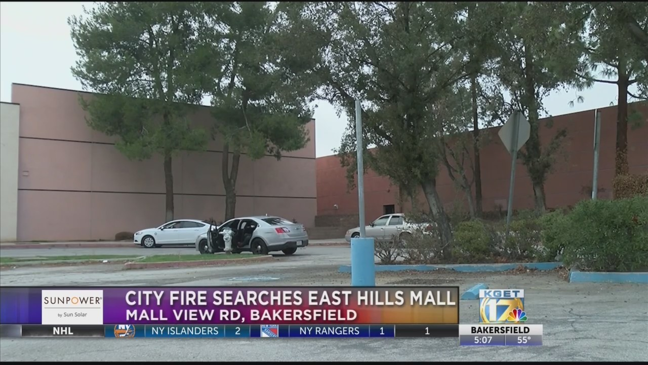 City fire officials search East Hills Mall site following