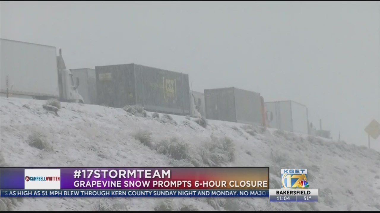 Snow causes chaos in Grapevine roads