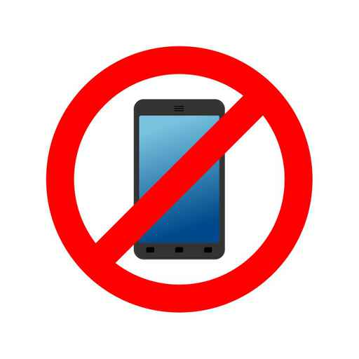 Stop phone. It is forbidden to call. Ban smartphone. Red Circle _1554492289815
