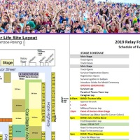 2019 Relay For Life map schedule