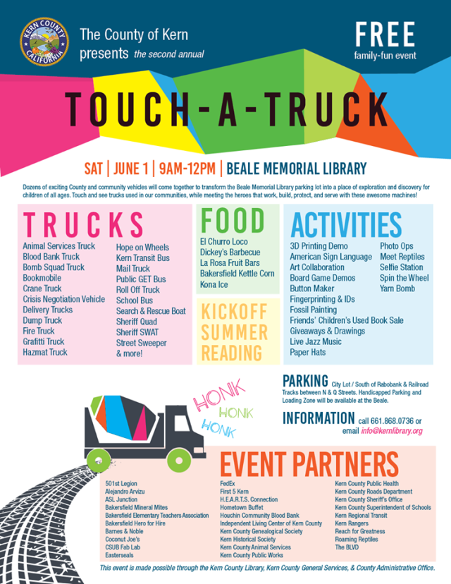 Touch-A-Truck at the Kern County Library