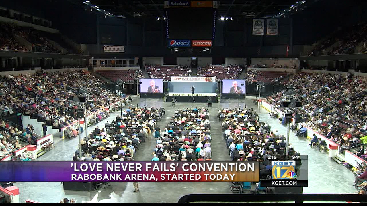 Love Never Fails' convention at Rabobank Arena this weekend
