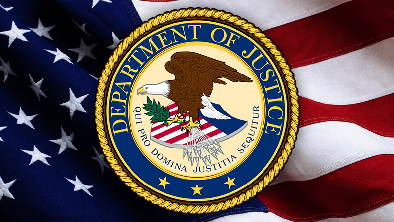 DOJ - Department of Justice logo