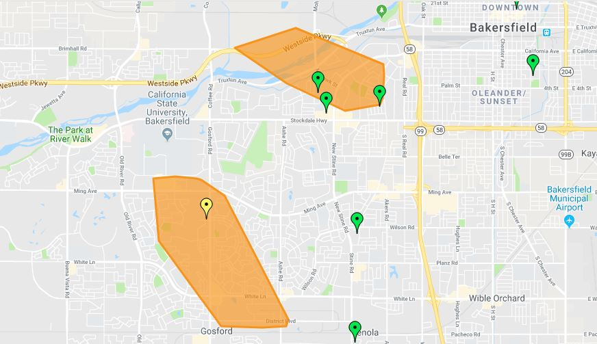 Dual PG&E outages affecting more than 3,600 residents and businesses