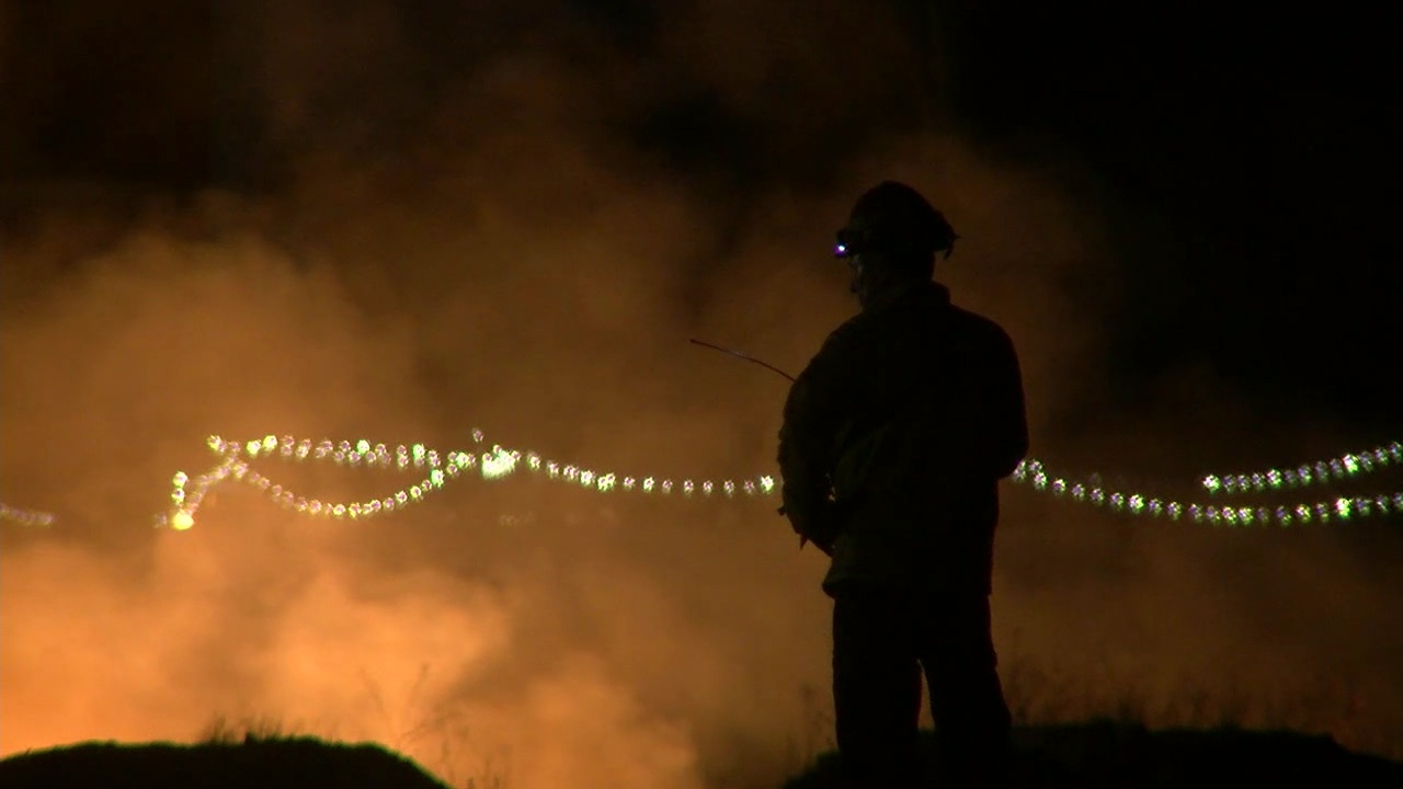 Homeless encampment fire burns about 3 acres in Southwest