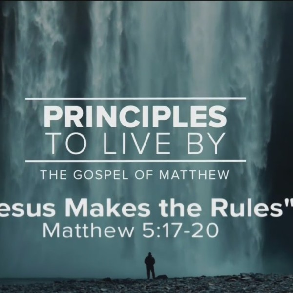 Today's Walk - Jesus makes the rules