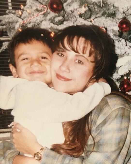 Yvette and her eldest son