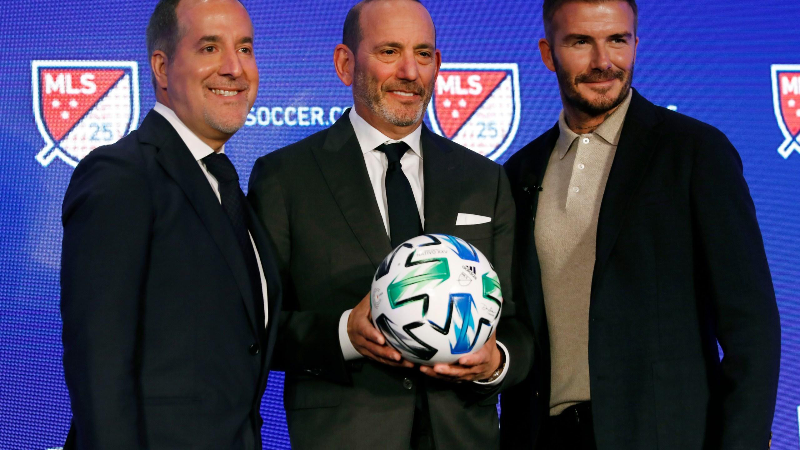 Jorge Mas, Don Garber, David Beckham