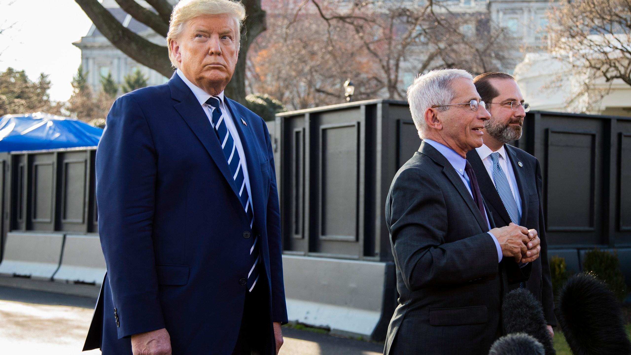 Donald Trump, Alex Azar, Anthony Fauci