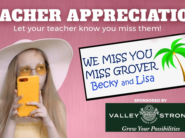 Teacher Appreciation Contest 2020