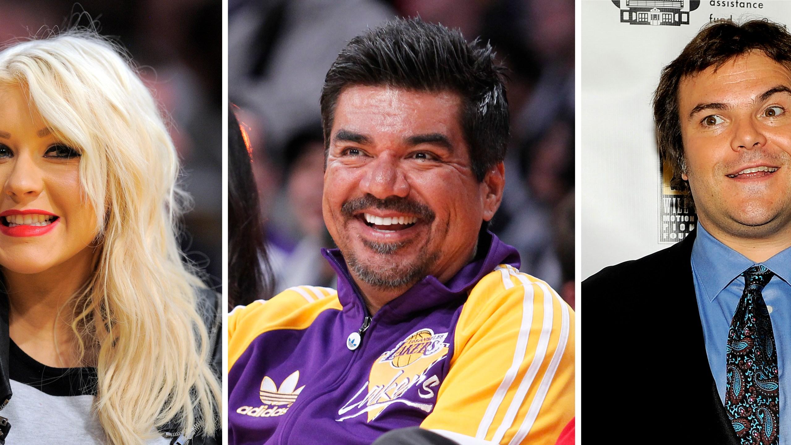 Christina Aguilera, George Lopez, Jack Black
