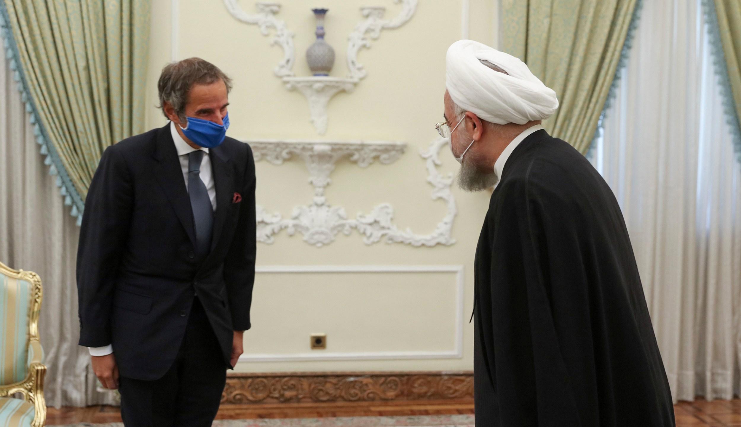 Hassan Rouhani, Rafael Mariano Grossi