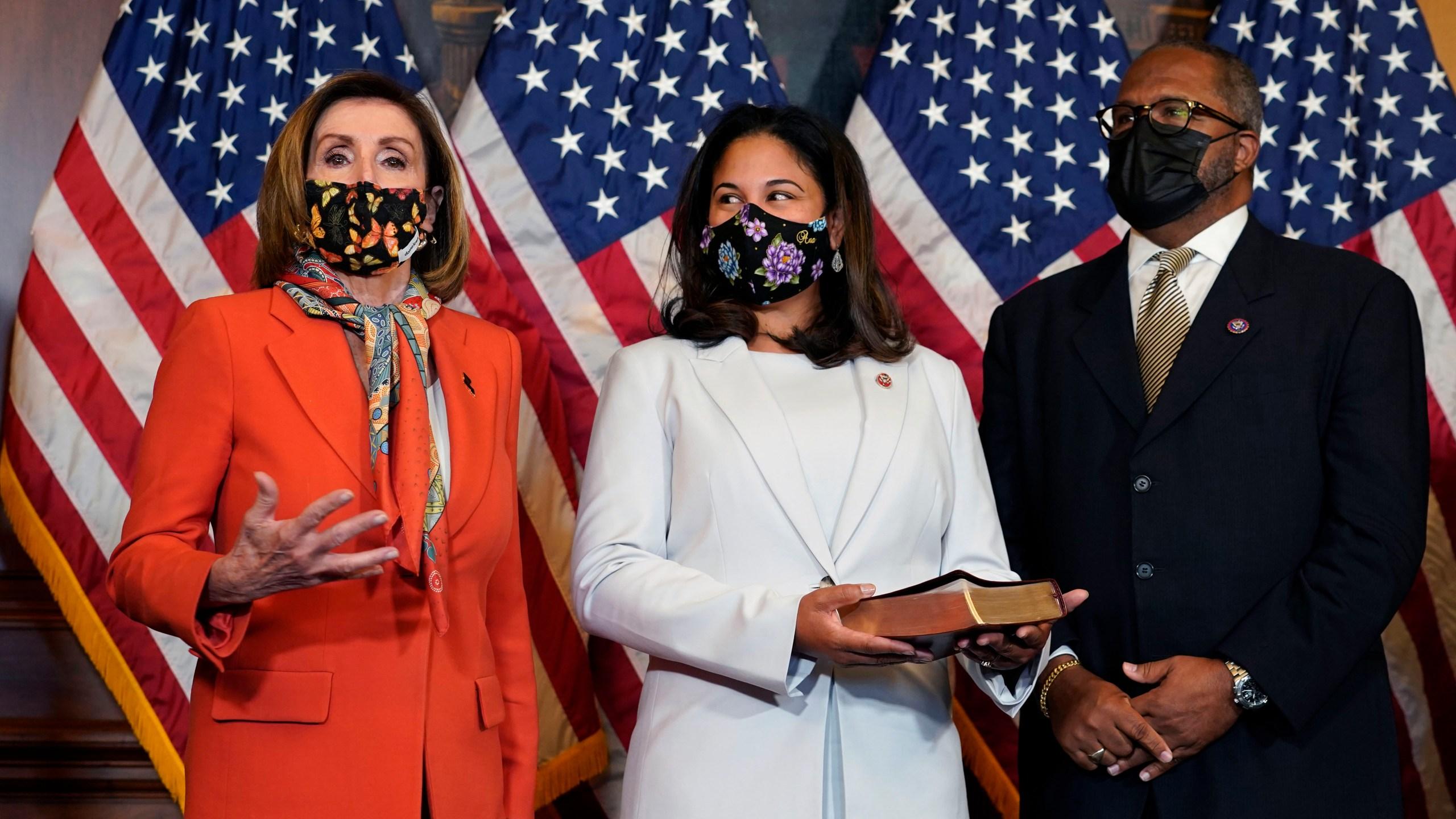 Nancy Pelosi, Troy Carter, Ana Carter